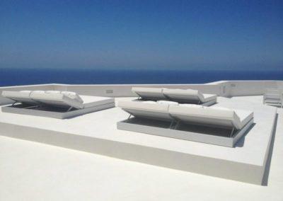 Terrasse béton ciré